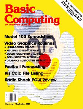 September 1983 issue of Basic Computing