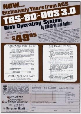VTOS advertisement
