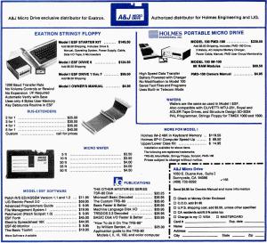 A&J Micro Drive advertisement