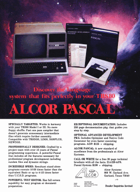 Alcor Systems advertisement