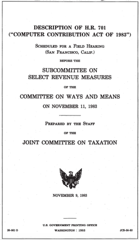 The Computer Contribution Act of 1983