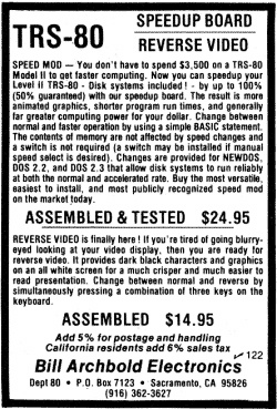 Archbold Electronics advertisement