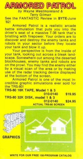 Armored Patrol advertisement