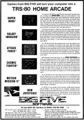 Big Five advertisement from June 1981