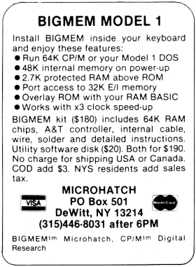 Microhatch advertisement