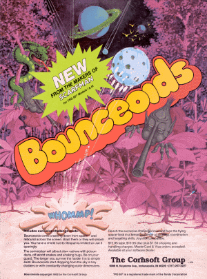 Bounceoids advertisement from 80 Micro