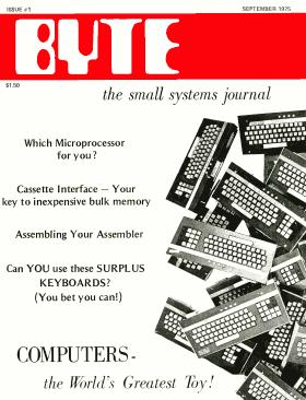 September 1975 issue of BYTE