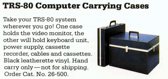 The TRS-80 System Carrying Cases