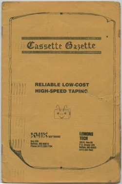 Front page of the Cassette Gazette