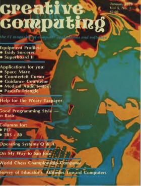 Cover of January 1979 Creative Computing