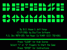 Title screen for Defense Command
