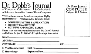 Dr. Dobb's Journal advertisment