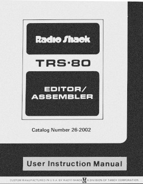 Title page of the TRS-80 Editor/Assembler manual