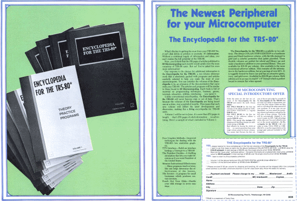 Advertisement for the Encyclopedia for the TRS-80