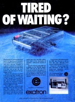 Exatron advertisement