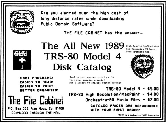 Early advertisment for the File Cabinet