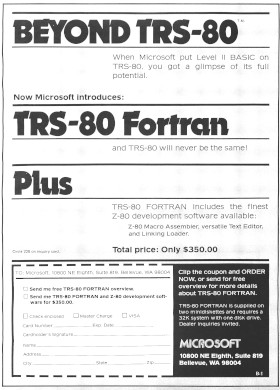 Microsoft advertisement from the January 1979 issue of BYTE