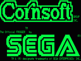 Prelude screen for Frogger