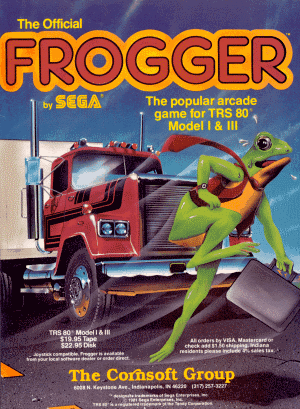 Advertisement for Frogger published in 80 Micro