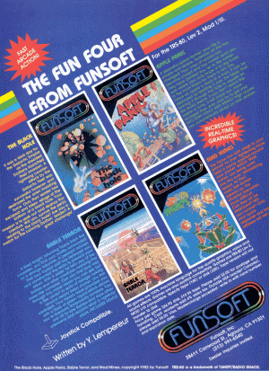 Funsoft advertisement published in 80 Micro