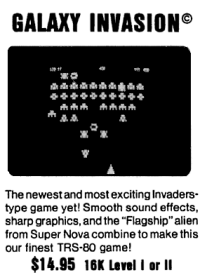 Galaxy Invasion advertisement