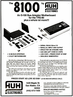 Advertisement for HUH Electronics