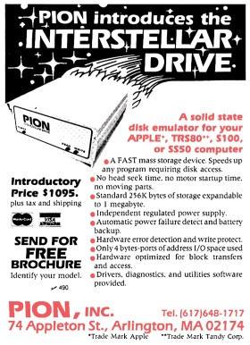 Pion Interstellar Drive advertisement