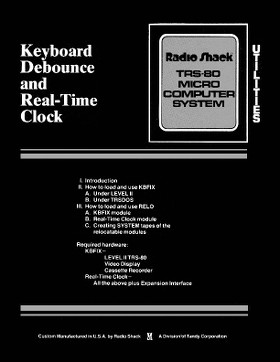 Keyboard Debounce and Real-Time Clock cover