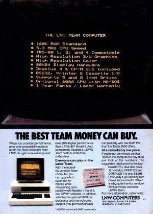 LNW Team advertisement