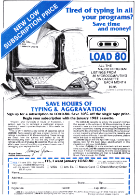 Load 80 advertisement from 80 Microcomputing
