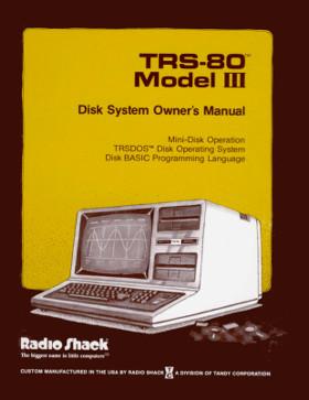 Cover of Model III TRSDOS manual