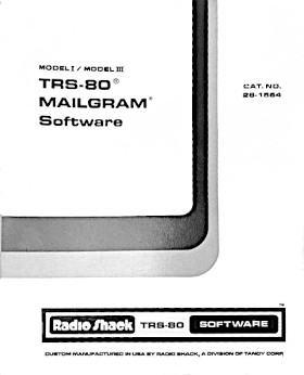 Title page of the TRS-80 Mailgram manual