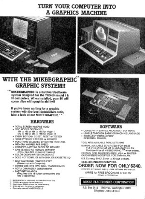 Mikeegraphic advertisement
