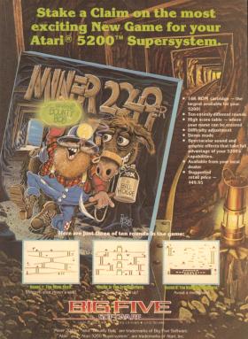 December 1982 advertisement for Miner 2049er