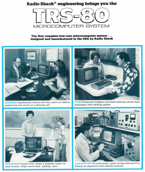 Cover of the first Radio Shack computer catalog