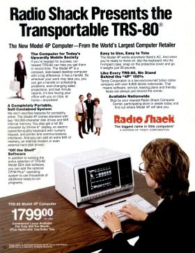 Radio Shack advertisement for the TRS-80 Model 4P