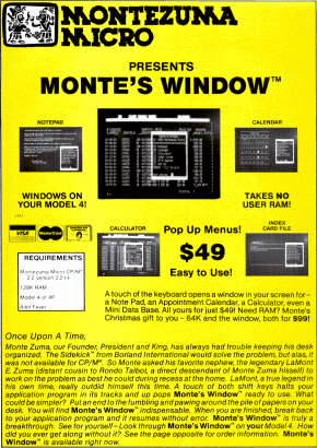 Montes Window advertisement
