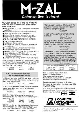 M-ZAL advertisement from 80 Micro