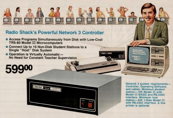 Network 3 Controller from a 1983 Radio Shack catalog