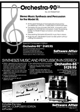 Orchestra-90 advertisement from the February 1982 issue of 80 Microcomputing