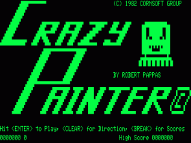 Title screen in Crazy Painter