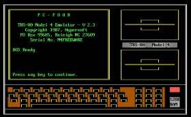 PC-Four title screen