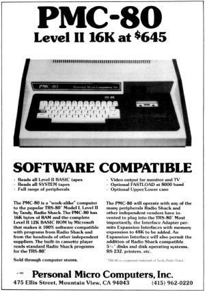 PMC-80 advertisement