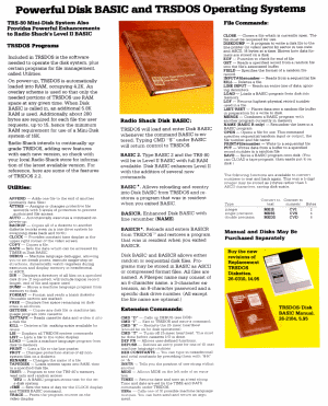 TRSDOS in Radio Shack catalog
