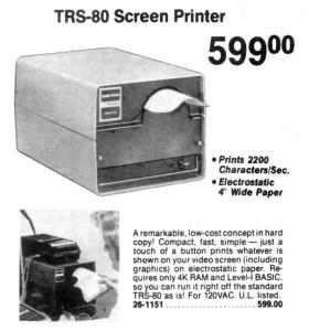 TRS-80 Screen Printer