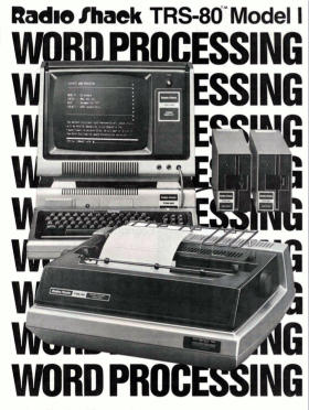 Radio Shack word processing brochure