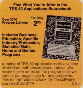 The TRS-80 Applications Software Sourcebook