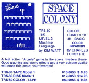 Space Colony advertisement