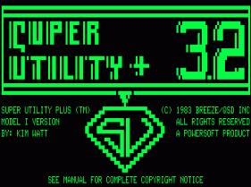 Super Utility Plus 3.2 loading screen