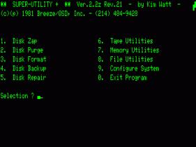 Super Utility 2.2 screen